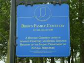 Brown Family Cemetery Sign